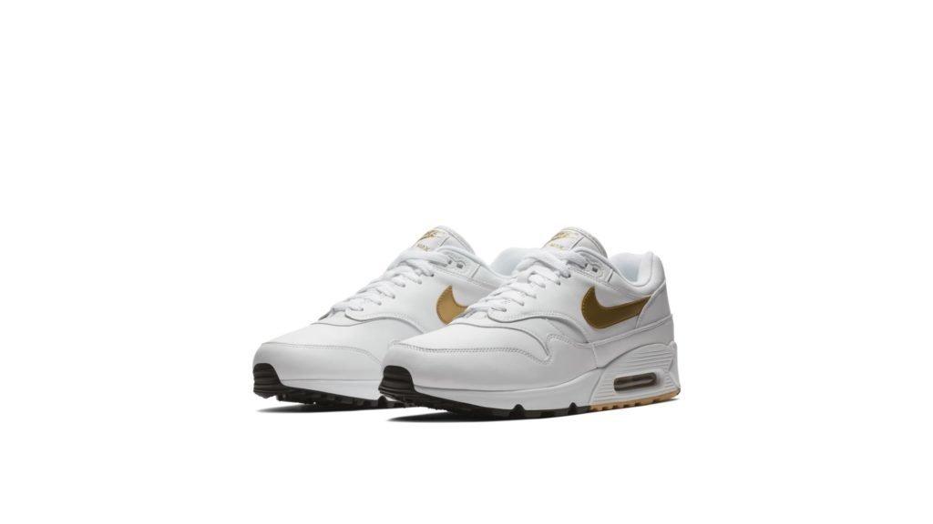Nike Air Max 90/1 'White/Gold' (AJ7695-102)