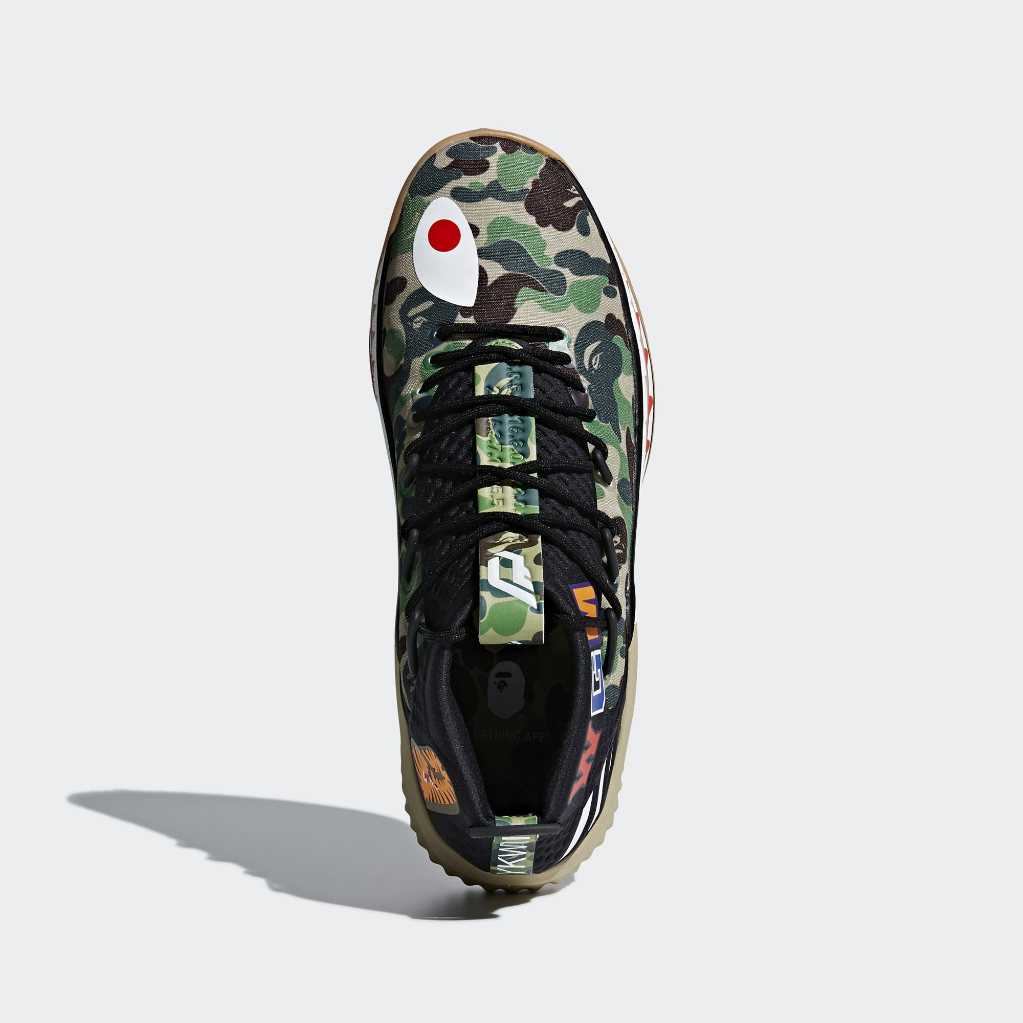 Adidas X BAPE Dame 4 sneakers zwart