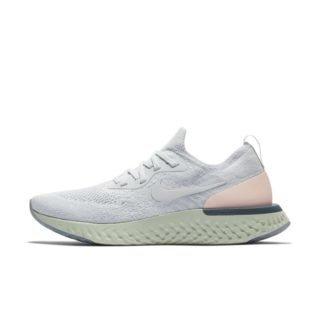 Nike Epic React Flyknit Hardloopschoen voor dames - Zilver Zilver