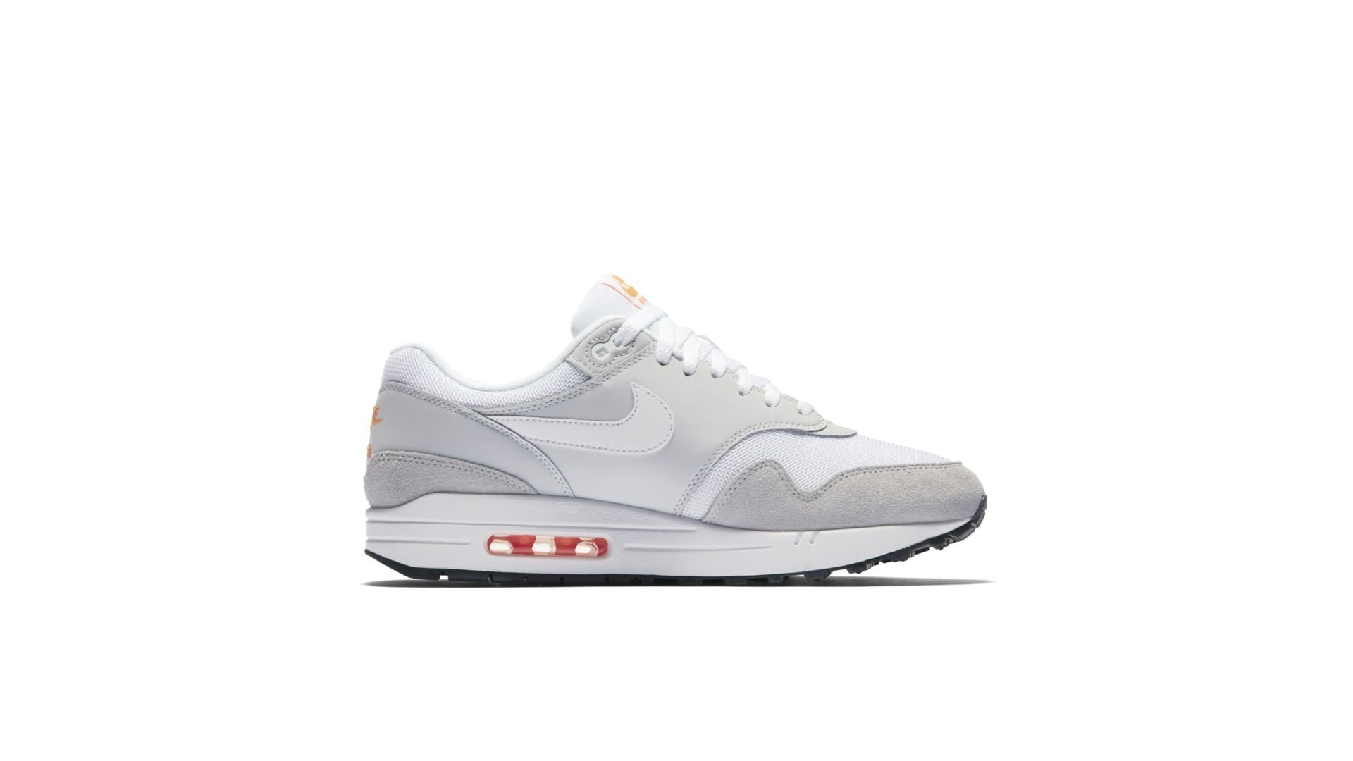 offer discounts low price sale size 7 Nike Air Max 1 Pure PlatinumTotal Orange Pure PlatinumTotal OrangeBlackWhite