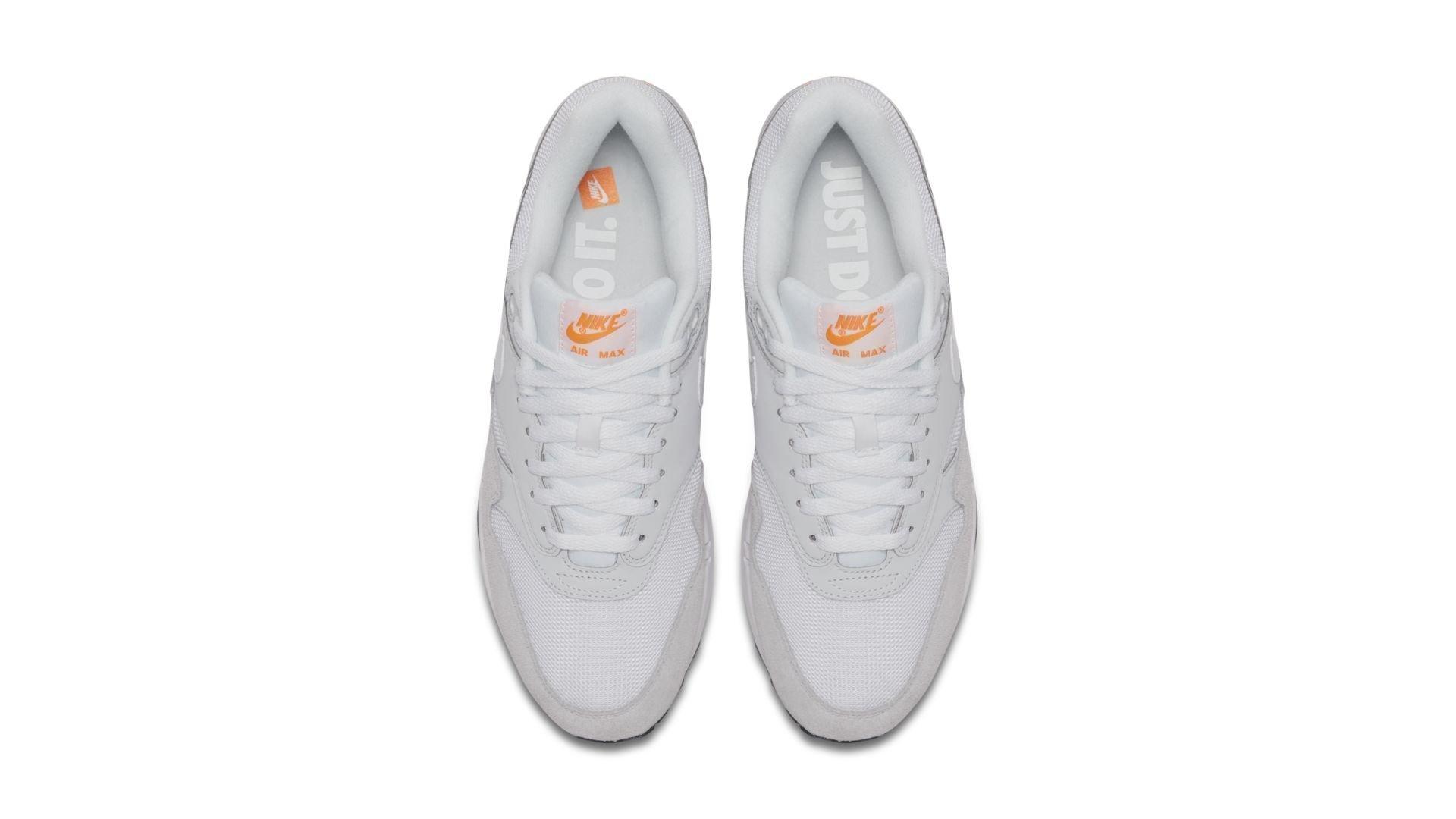 Nike Air Max 1 'Pure Platinum/Total Orange' (AT0043-001)