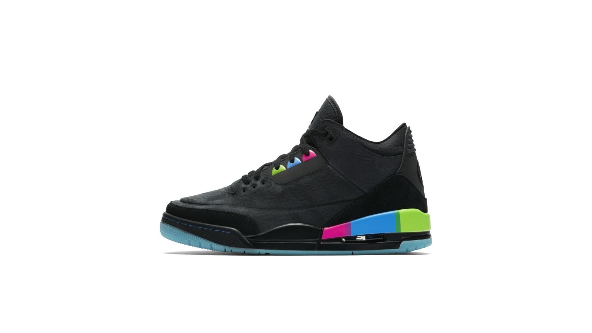 Jordan 3 Retro Quai 54 Black Multi (AT9195-001)