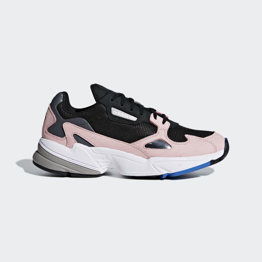 adidas Falcon W 'Core Black/Pink' (B28126)