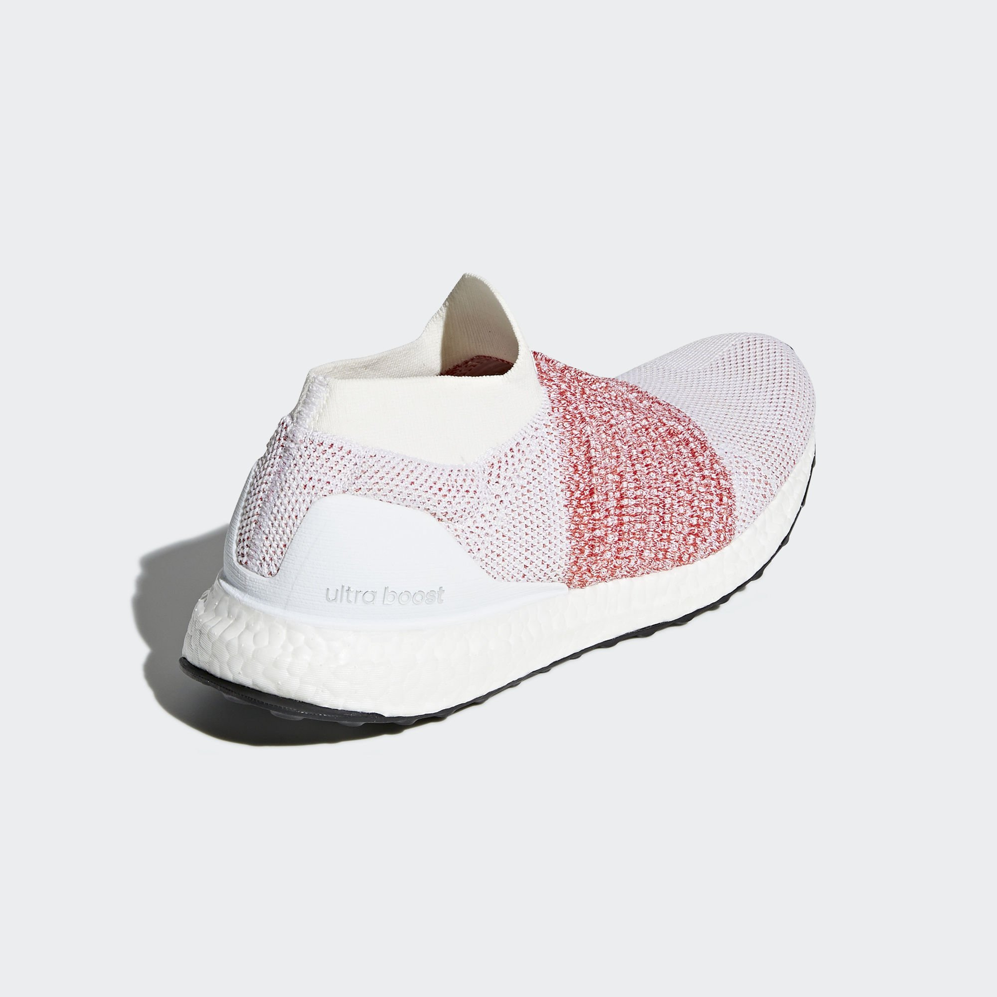 adidas Ultra Boost Laceless White Scarlet (BB6136)