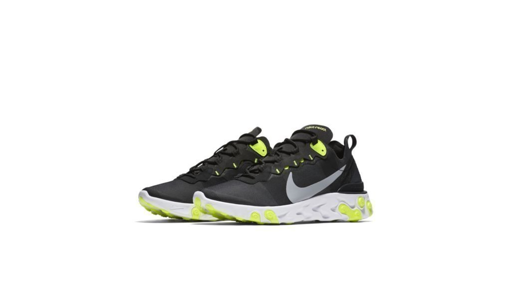 Nike React Element 55 'Black/Volt' (BQ6166-001)