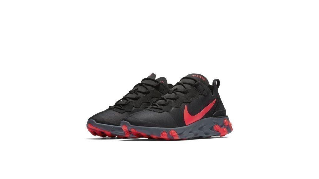Nike React Element 55 'Black/Solar Red' (BQ6166-002)