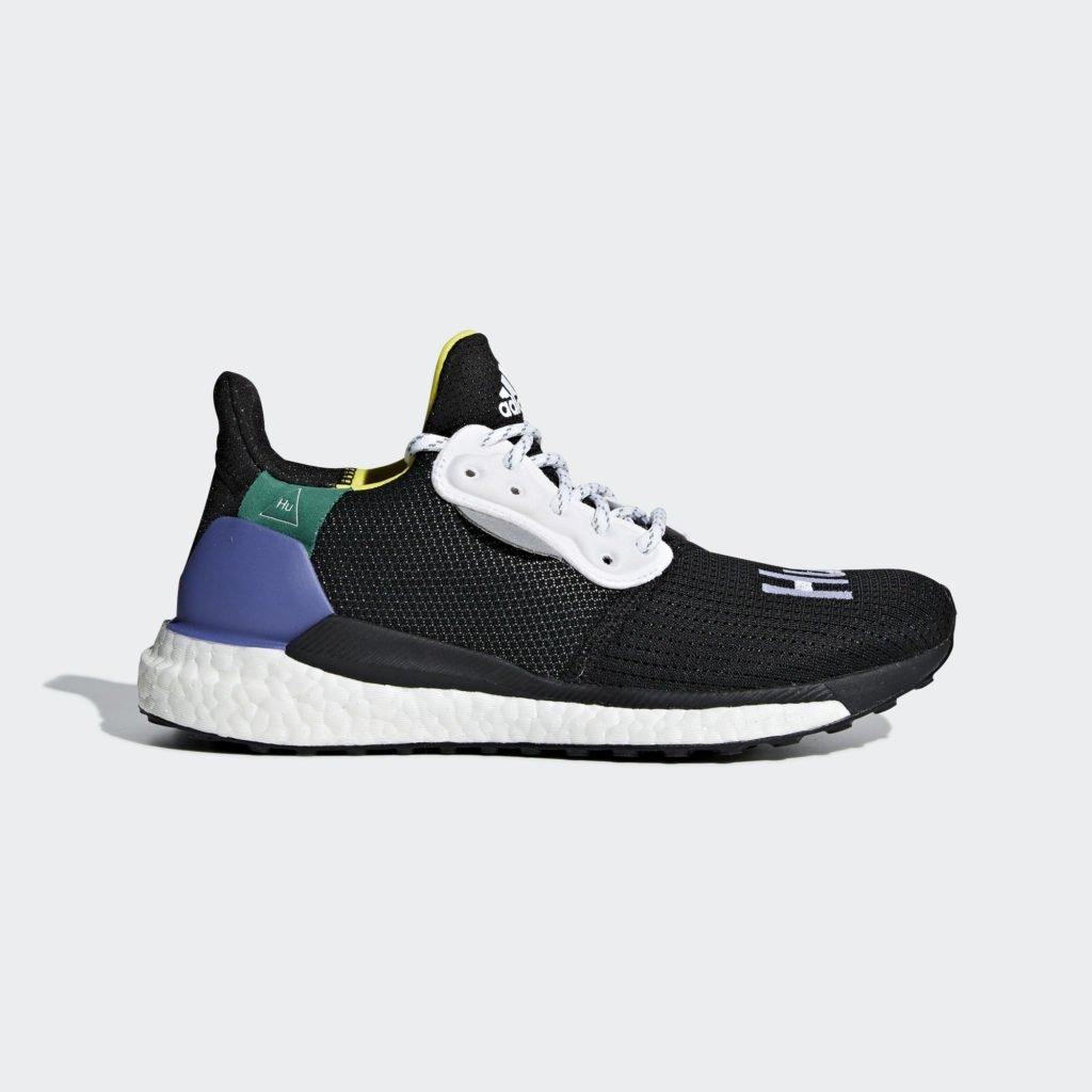adidas Womens Pharrell Williams Solar Hu Glide 'Core Black' (CG6736)