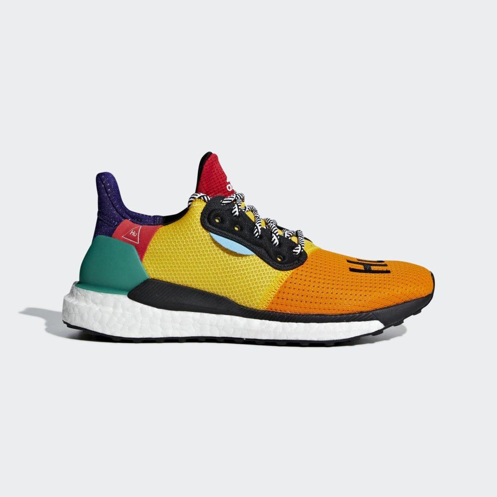 adidas Womens Pharrell Williams Solar Hu Glide 'Bold Gold' (DB3038)