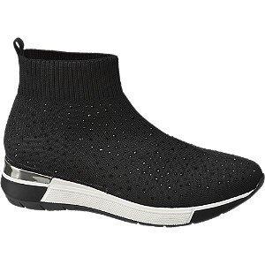 Graceland Zwarte sock boot steentjes