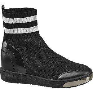 Graceland Zwarte sneaker wedge
