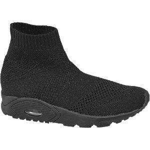 Graceland Zwarte sock sneaker