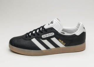 adidas Gazelle Super (Core Black / Vintage White / Gum)