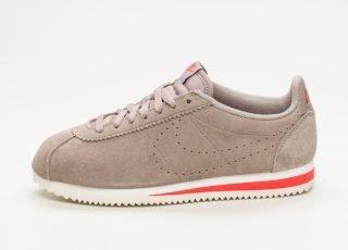 Nike Classic Cortez Suede (Sepia Stone / Sepia Stone - Habanero Red)