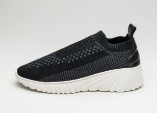 Filling Pieces Roots Runner Knit (Black / Grey)