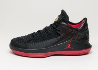 Nike Air Jordan XXXII Low (Black / Gym Red - Tour Yellow)