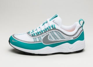 Nike Air Zoom Spiridon (White / Silver - Turbo Green - Laser Orange)