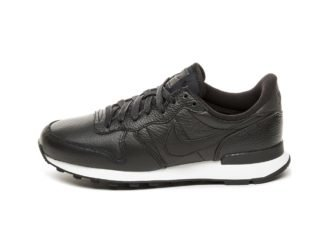 Nike Wmns Internationalist PRM (Black / Black - Summit White)