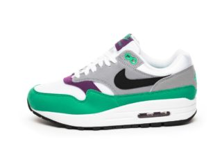 Nike Wmns Air Max 1 (White / Black - Wolf Grey - Clear Emerald)