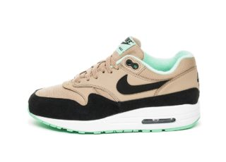Nike Wmns Air Max 1 (Desert / Black - Green Glow - White)