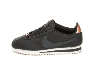 Nike Wmns Classic Cortez Leather (Black / Anthracite - Metallic Red Br