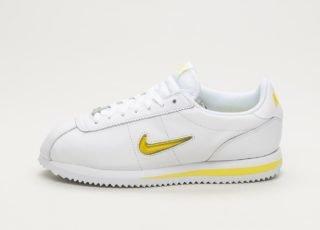 Nike Wmns Cortez Basic Jewel '18 (White / Electrolime)