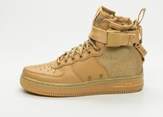 Nike Wmns SF Air Force 1 Mid (Elemental Gold / Elemental Gold)