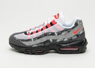 Nike x Atmos Air Max 95 Print *We Love Nike* (Black / Bright Crimson -
