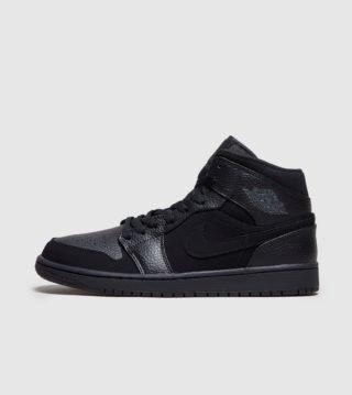 Jordan Air 1 Mid (zwart)