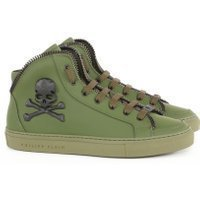 Philipp Plein Skull mid-top sneakers groen
