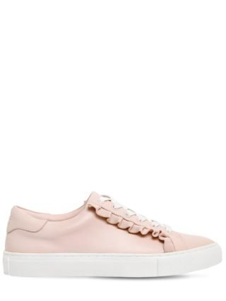 20mm Ruffled Leather Sneakers (roze)