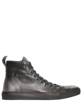 High Top Leather Sneakers (zilver)