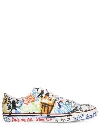 20mm Graffiti Canvas Sneakers (wit/multicolor)