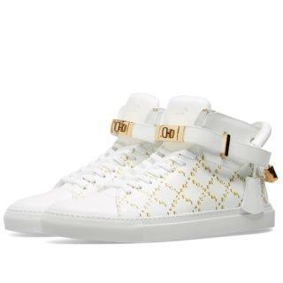 Buscemi Monogram 100mm Sneaker (White)
