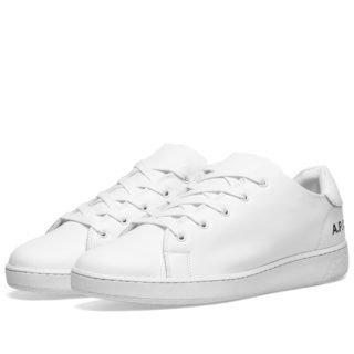 A.P.C. Minimal Leather Sneaker (White)