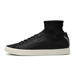 PUMA Clyde Sock Pitcher sportschoenen (Wit/Zwart)
