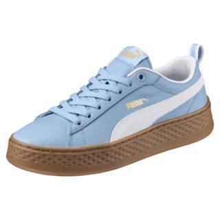 PUMA PUMA Smash varsity sneakers met plateauzolen (Blauw/Wit)