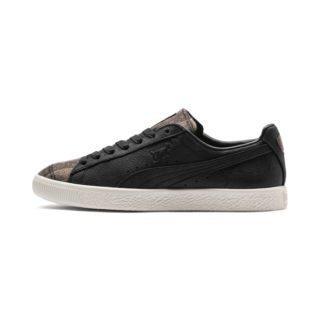 PUMA Clyde sneakers met ruiten (Wit/Zwart)