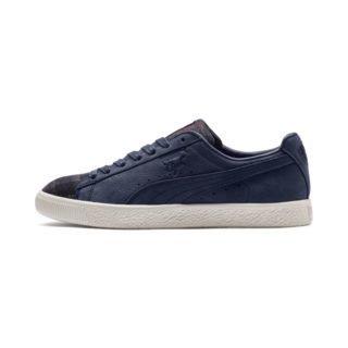 PUMA Clyde sneakers met ruiten (Blauw/Wit)