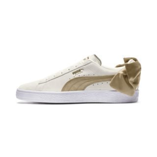PUMA Suede Bow Varsity sneakers (Wit/Goud)