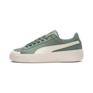 PUMA Basket Platform Scallop sneakers (Groen/Wit)