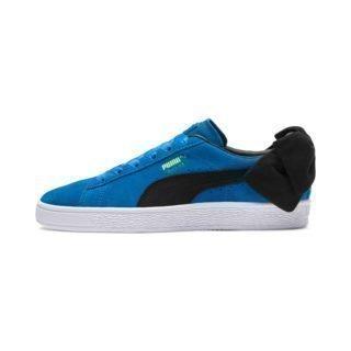 PUMA Suede Bow Block sportschoenen (Blauw/Zwart)