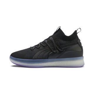 PUMA Clyde Court Disrupt basketball-schoenen (Paars/Zwart)