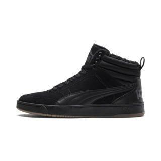 PUMA Rebound Street v2 Suede hoge sportschoenen met bont (Zwart/Grijs)