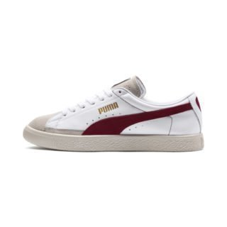 PUMA Basket 90680-sneakers (Wit/Rood)