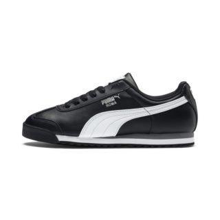 PUMA Roma Basic sportschoenen (Zwart/Wit/Zilver)
