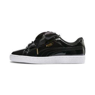 PUMA Basket Heart lakleren sneakers (Zwart)