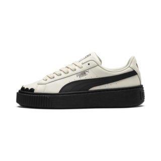 PUMA Basket Platform Scallop sneakers (Zwart/Wit)