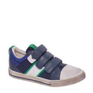 van Haren Agaxy leren sneakers jongens (blauw)