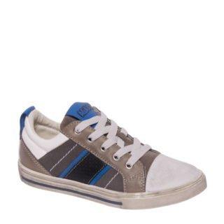 van Haren Agaxy leren sneakers jongens (grijs)