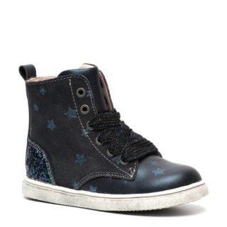 TwoDay leren sneakers met glitters donkerblauw (meisjes) (blauw)